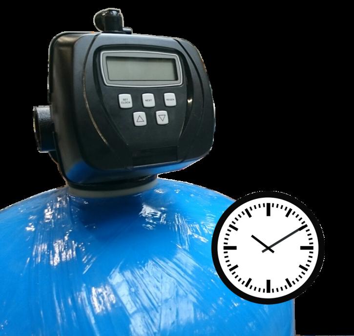 Einzel Aktivkohlefilter 9,5 m³/h<br>Zeitgesteuert
