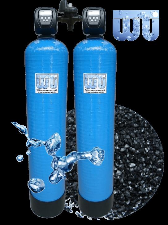 Doppel Aktivkohlefilter 4,8 m³/h