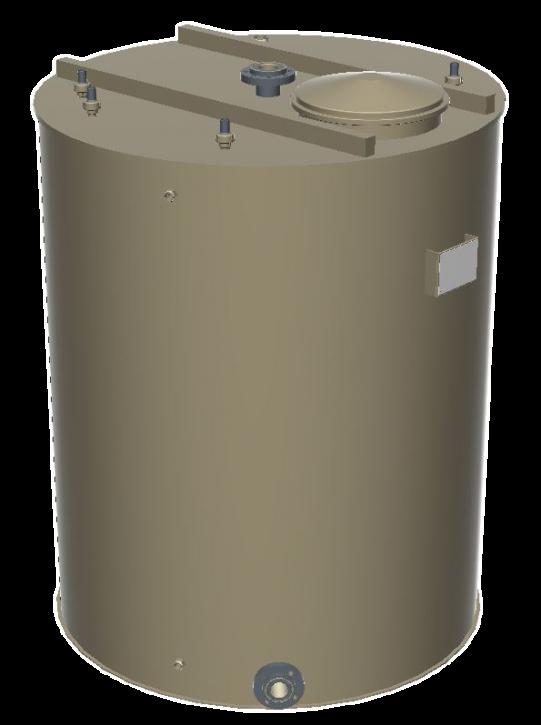 Hygienischer PP-H Reinstwassertank 4000 Liter