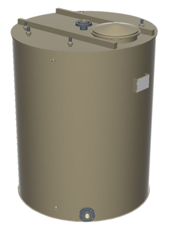 Hygienischer PP-H Lagerbehälter 1.000 Liter Inkl. Messtechnik