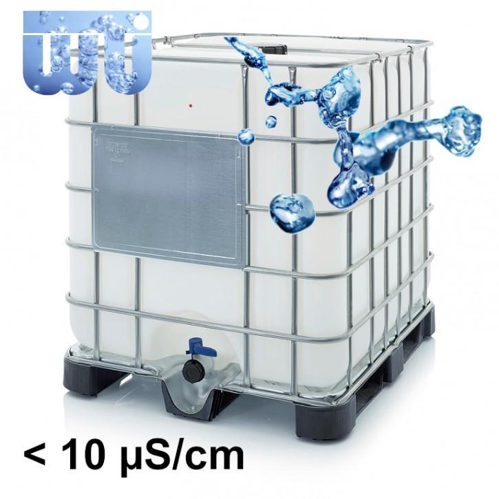 Demineralisiertes<br>VE Wasser im<br>neuen versiegelten IBC<br>Zur Abholung