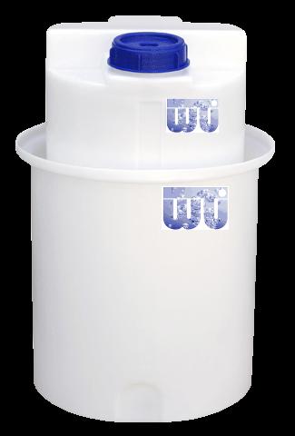 Dosierbehälter 60 Liter mit Auffangbehälter