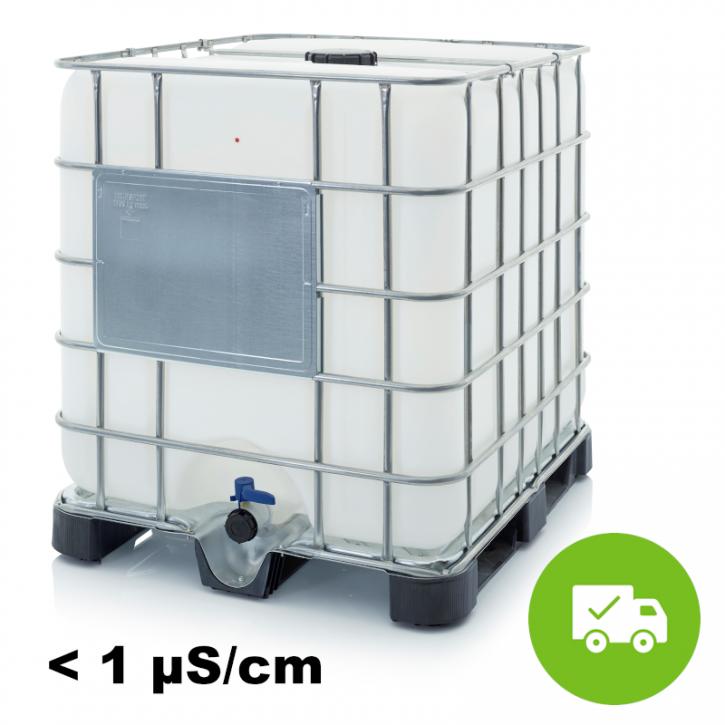 Hochreines VE Wasser<br>1.000 L<br>Inkl. Versand