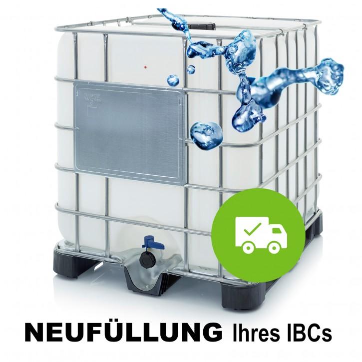 Demineralisiertes VE Wasser<br>Neubefüllung ihres IBC<br>Inkl. Abholung + Rückversand