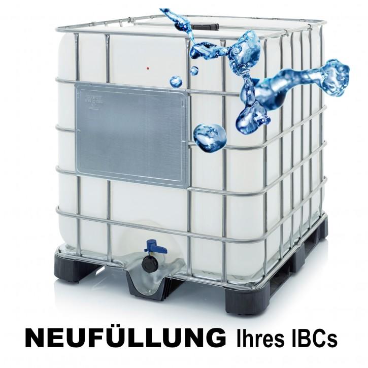Demineralisiertes VE Wasser<br>Neubefüllung Ihres IBC<br>Ohne An- Rücklieferung