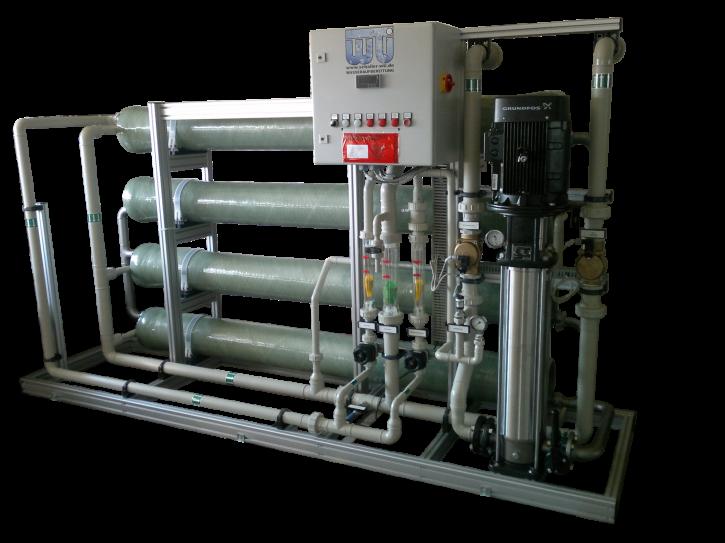 Nanofiltrationsanlage mit Antiscalantdosierung 7 m³/h
