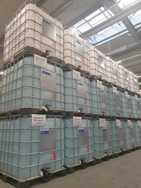 Destilliertes / Demineralisiertes / VE Wasser  - im IBC und Fass