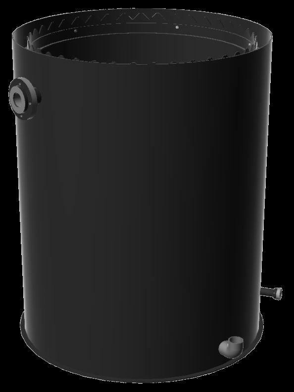 Harzrückspülbehälter