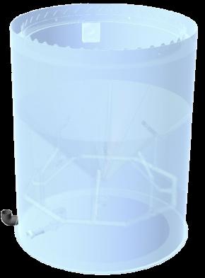 Harzrückspülbehälter 500 Liter